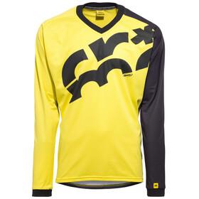 Mavic CrossMax LS Jersey Men screen yellow mavic/black